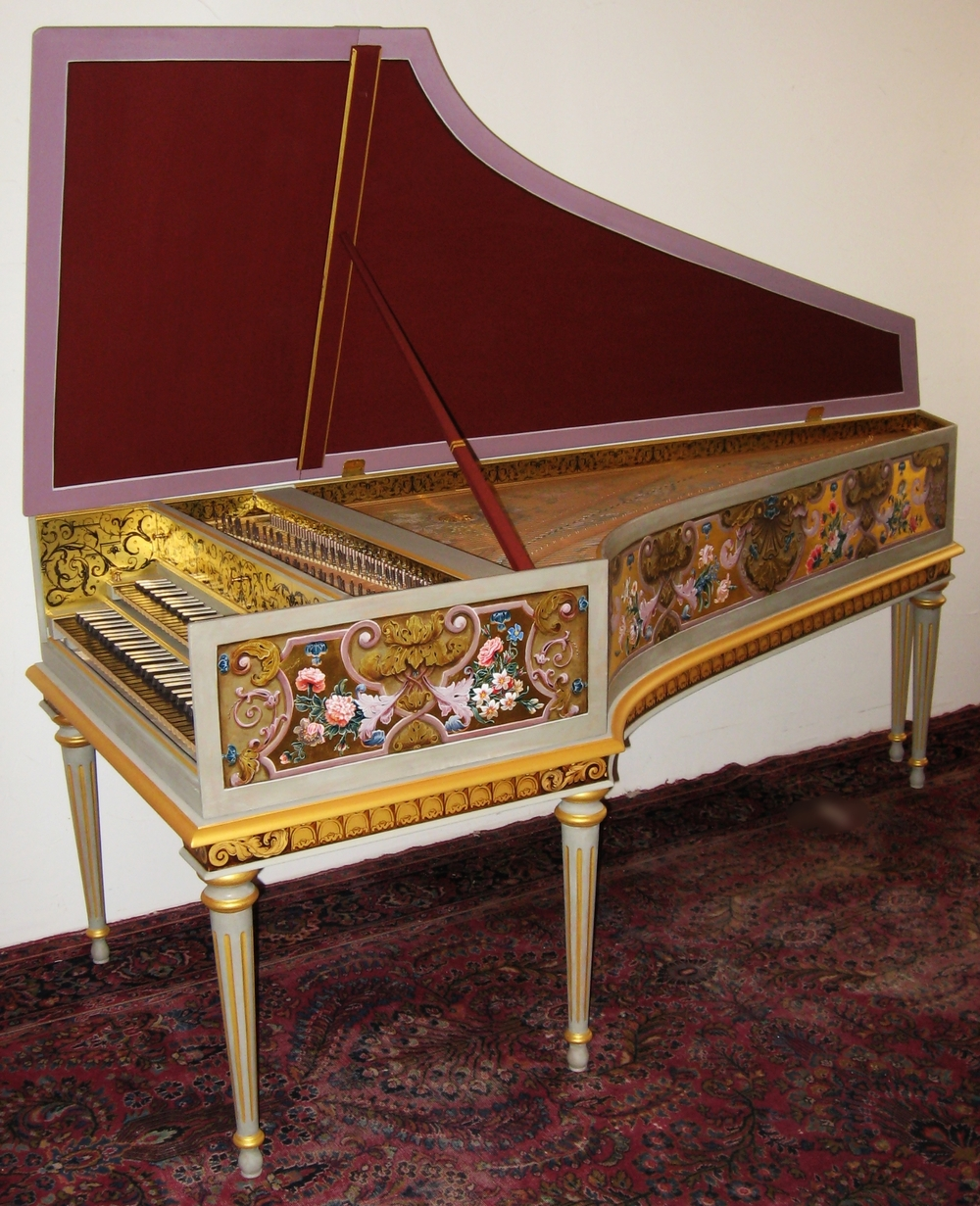 Harpsichord after f. blanchet in paris, france my opus 3 9 8 made in 2 0 0 8 belongs to Elizabeth Farr in boulder, colorado
