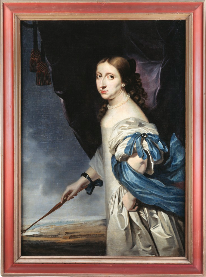 Queen Christina   as painted in  1661  by  Abraham Wuchters