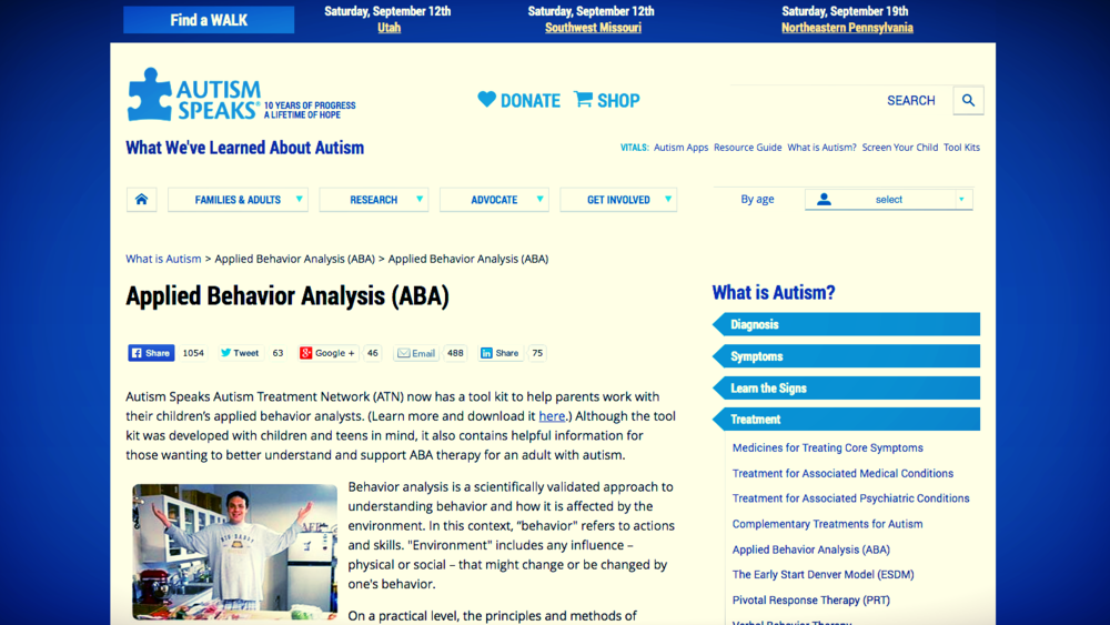 Many resources, including this one from Autism Speaks, provide valuable information about ABA Therapy.