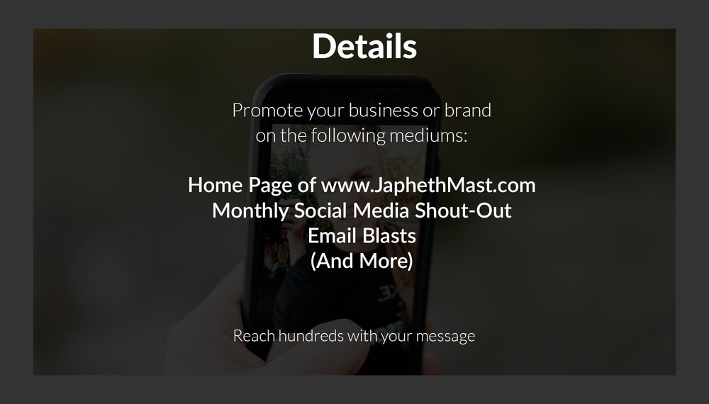 Japheth Mast Blog Sponsorship - Brand, Business, and Product Promotion