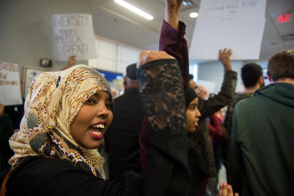 DFW International Detainee Protest