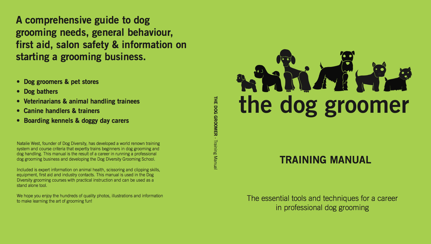 The dog groomer training manual dog diversity grooming courses the dog groomer training manual xflitez Image collections