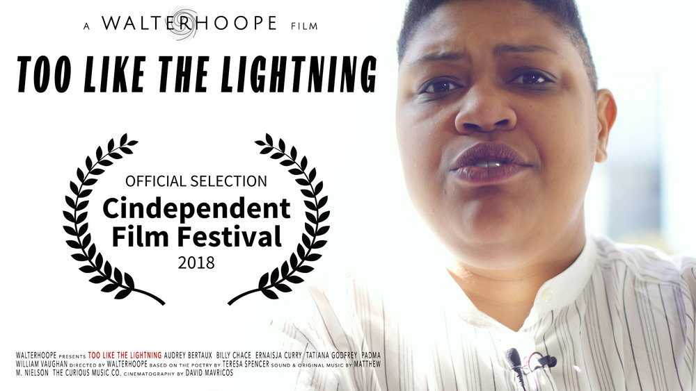 Too Like the Lightning - Too Like the Lightning is an activist short film based on Teresa's joke love poems to street harassers. In late 2018, Taffety Punk hosted the DC premier of the film created by Walterhoope, in advance of the film's internet release. To view the film, visit Walterhoope.com, and scroll to the Multimedia tab.