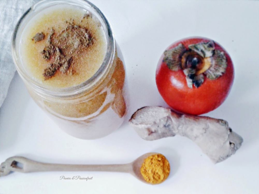 Persimmon and Tangerine smoothie