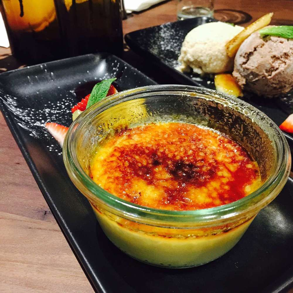 Ginger & orange creme brulee