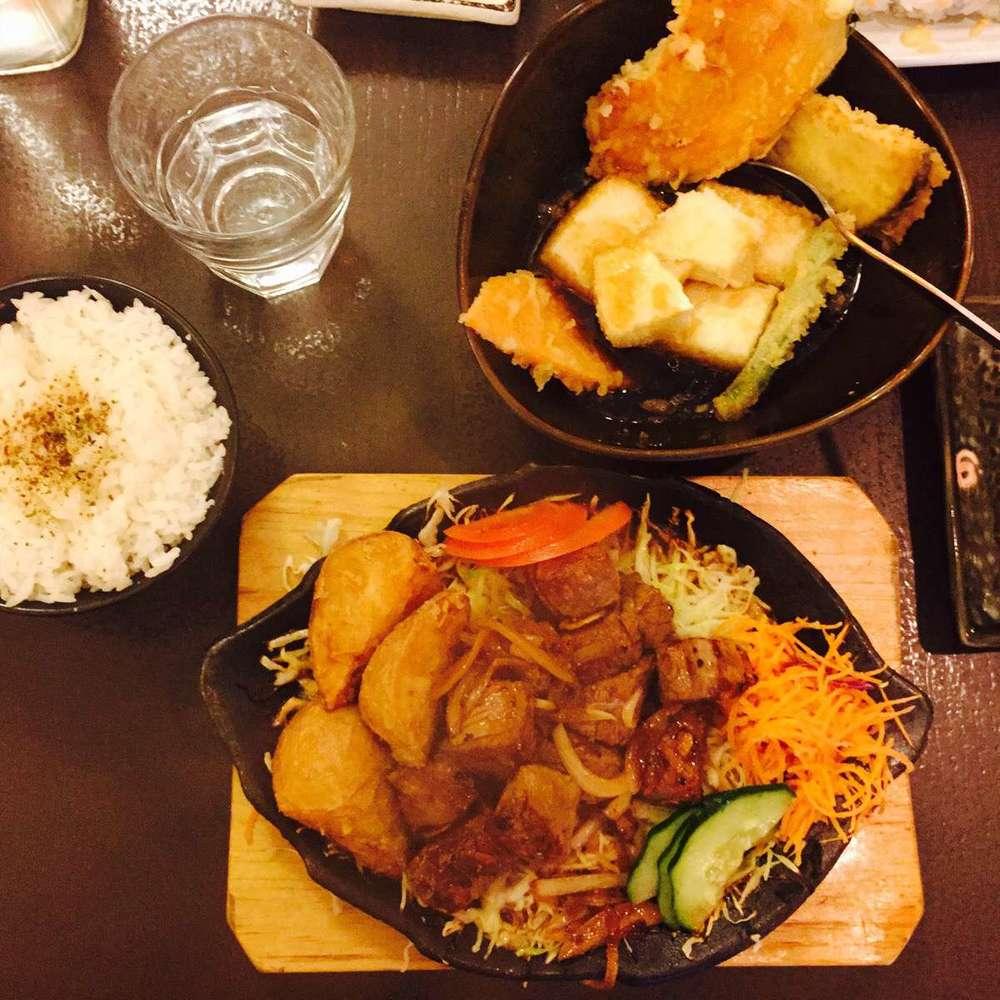Agedashi Tofu &Beef Teppanyaki