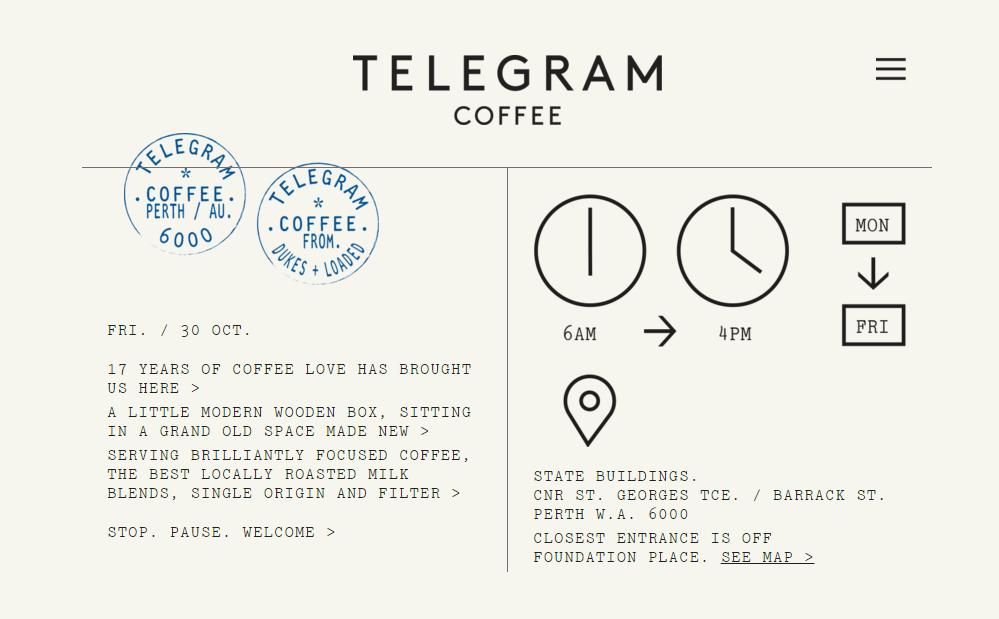 Image courtesy of www.telegramcoffee.com.au