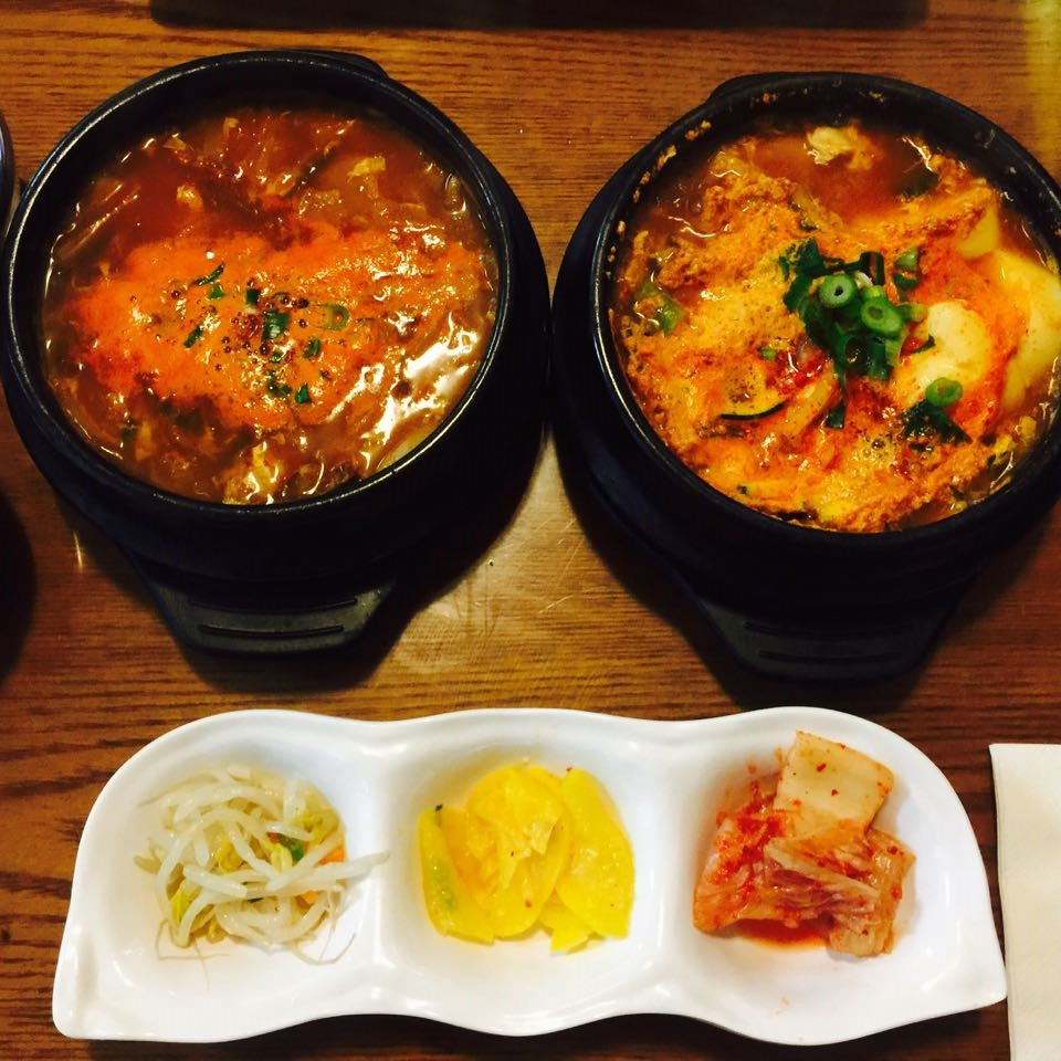 Left: Yukgaejang, Right: Haemul Sundubu Jjigae