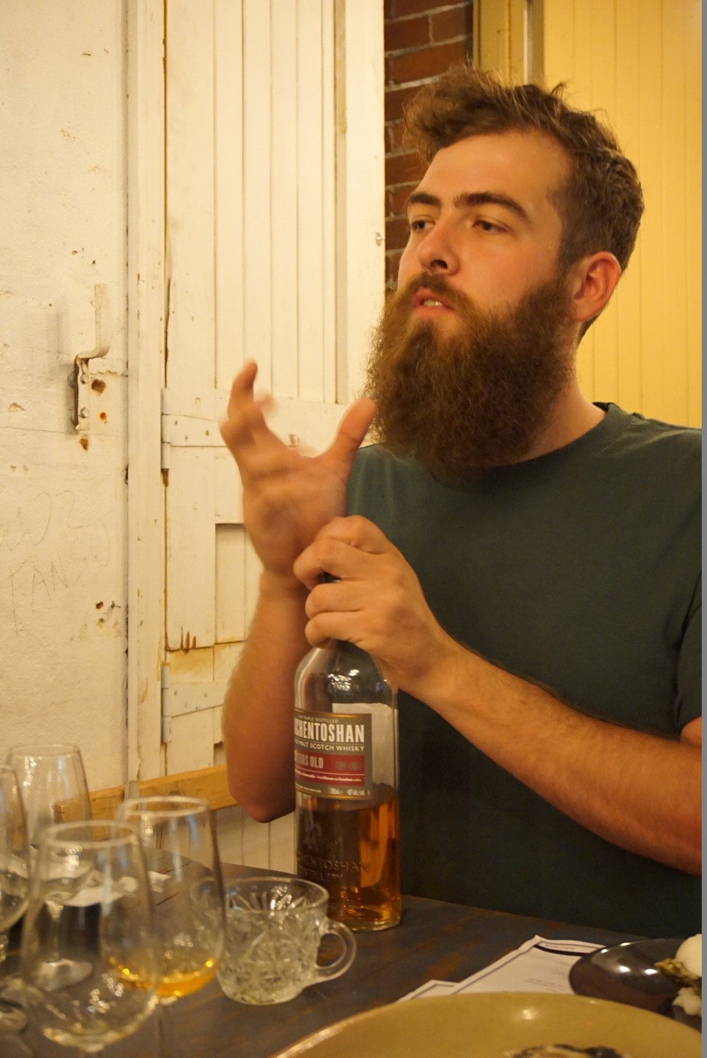 Bill Bewsher was explaining about Auchentoshan
