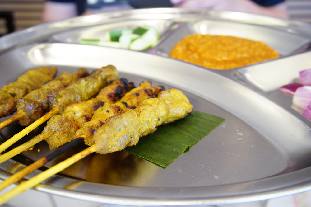 PappaRich's Beef and CHicken Satay