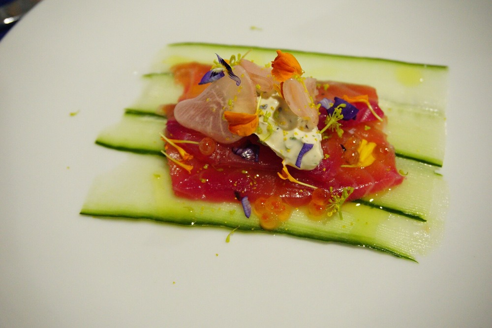 The Pickled Herring's Smoked salmon with roe, dill cream, pickled radish and cucumbers
