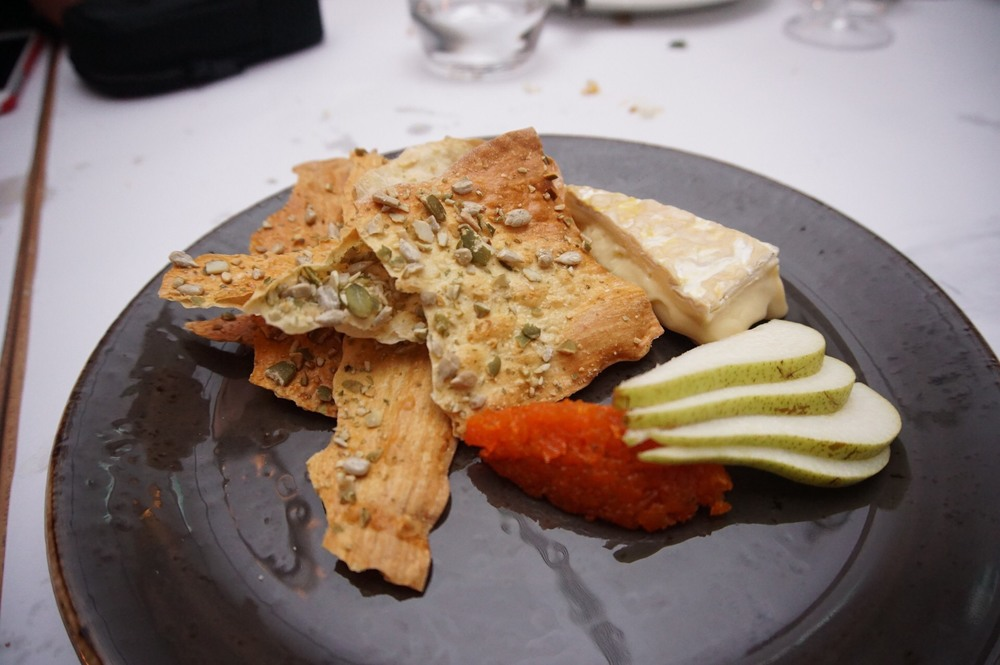 Carrot Jam, Pear, Crispy Bread and Cheese