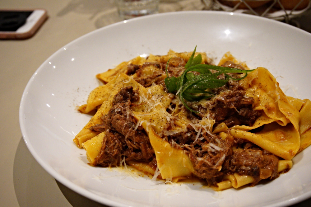 Pulled beef with Hand Made Pappardelle