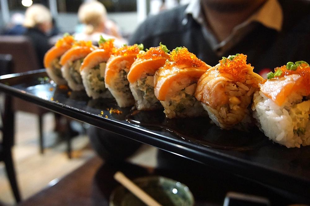 Aburi Salmon Uramaki - Must order!