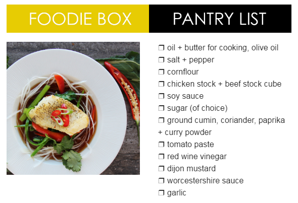 Dinner Twist Pantry List