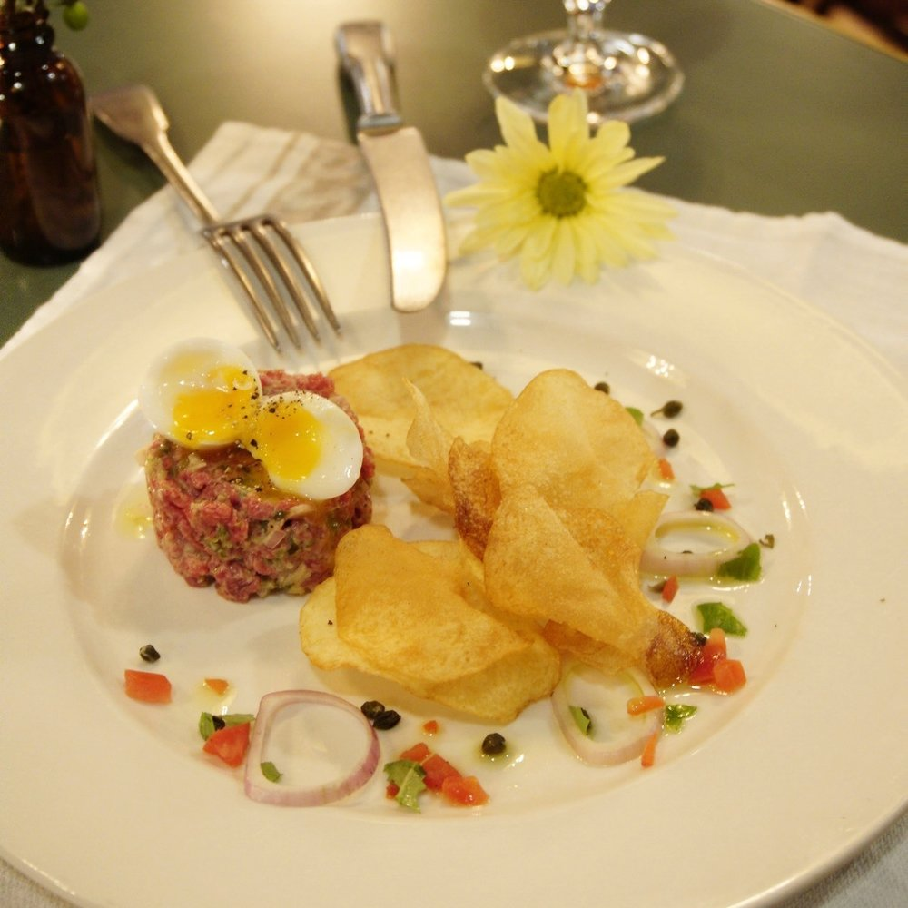 Pretty steak tartare