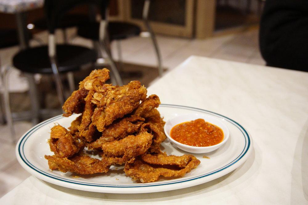 Kulit ayam (chicken skin)