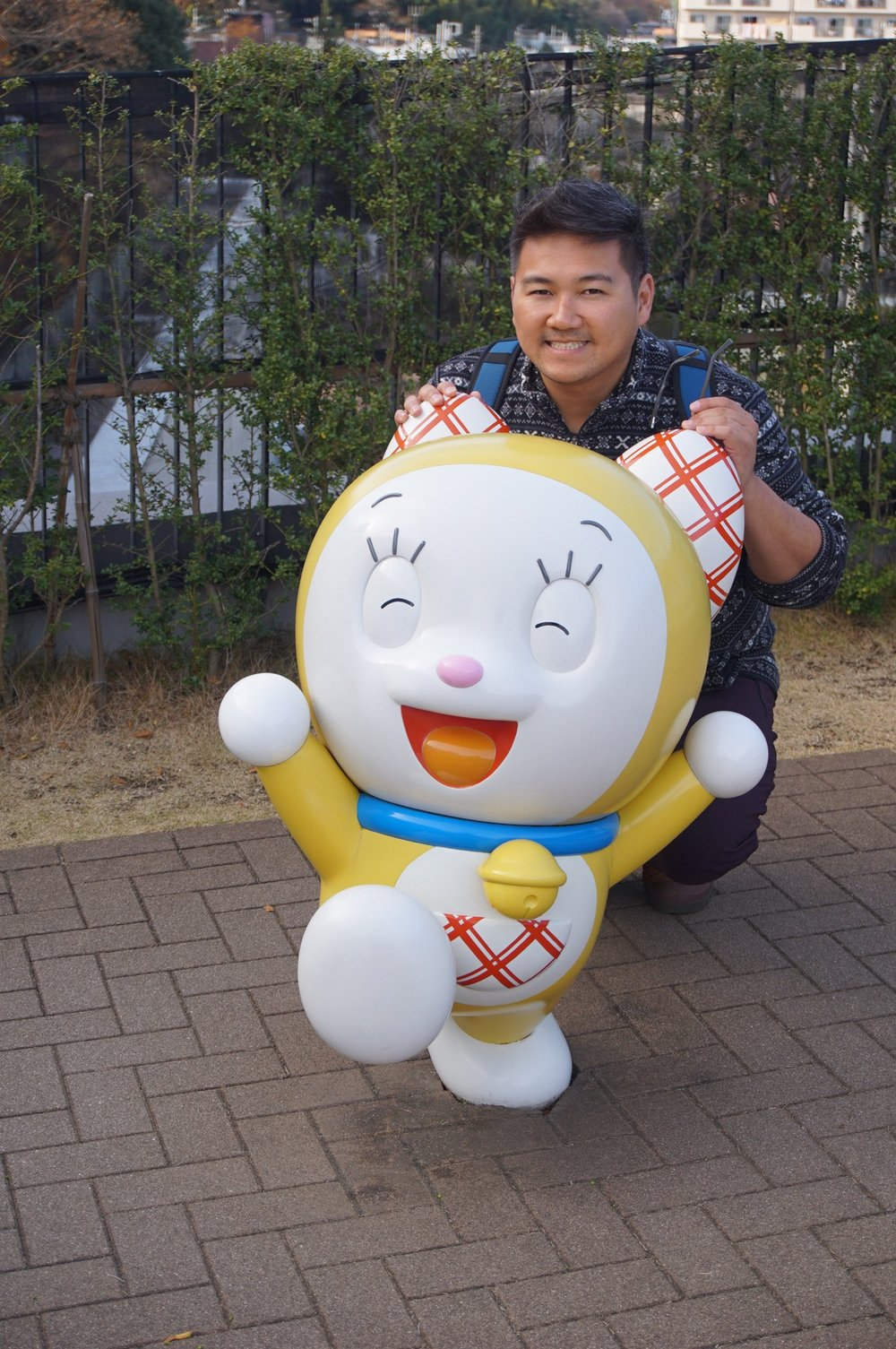 Andrew with Dorami