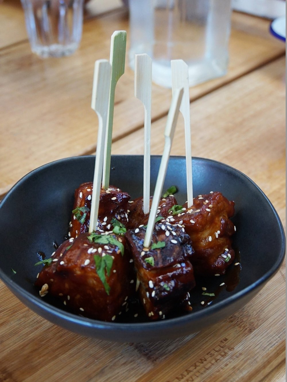 Sticky & Sweet Pork Belly Lollipops