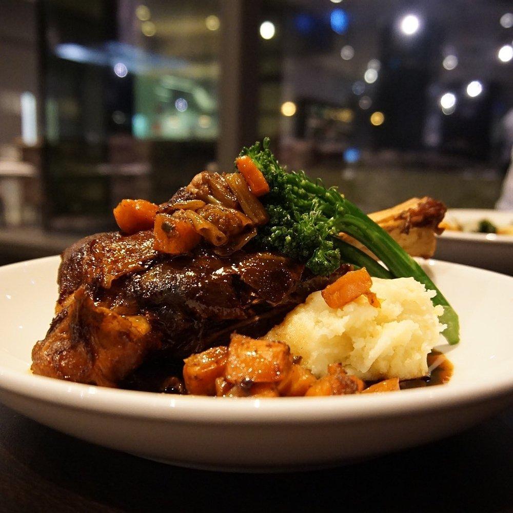 Lamb Shank Straits Cafe