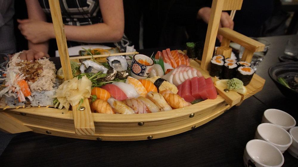 Sushi Boat Sakura Sake