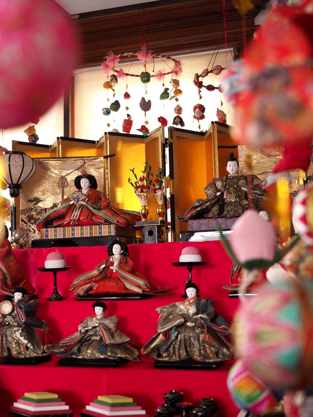 Hinaningyo Doll Display