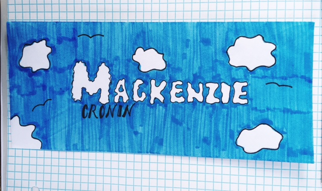Gianna created her own cloud font... how cool is that?