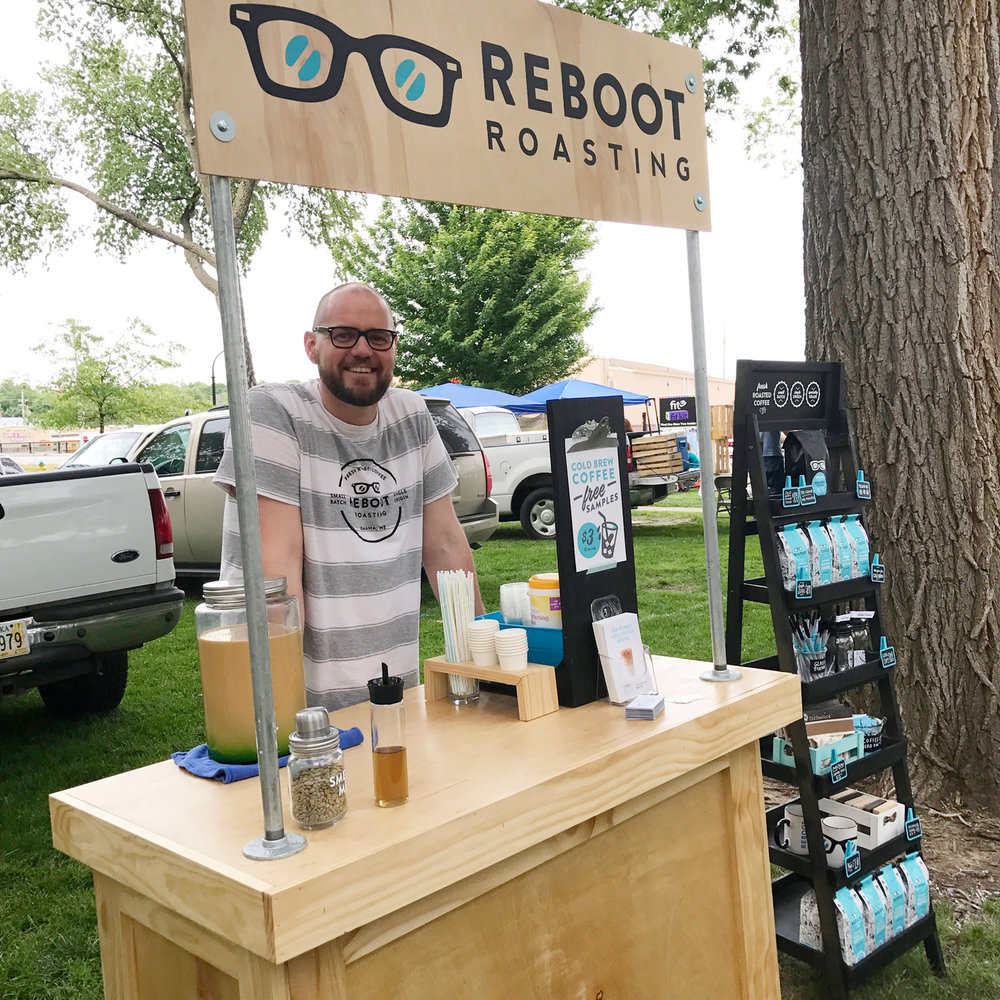 Matt Boshart  // Owner of Reboot Roasting at the Papillion Farmer's Market.