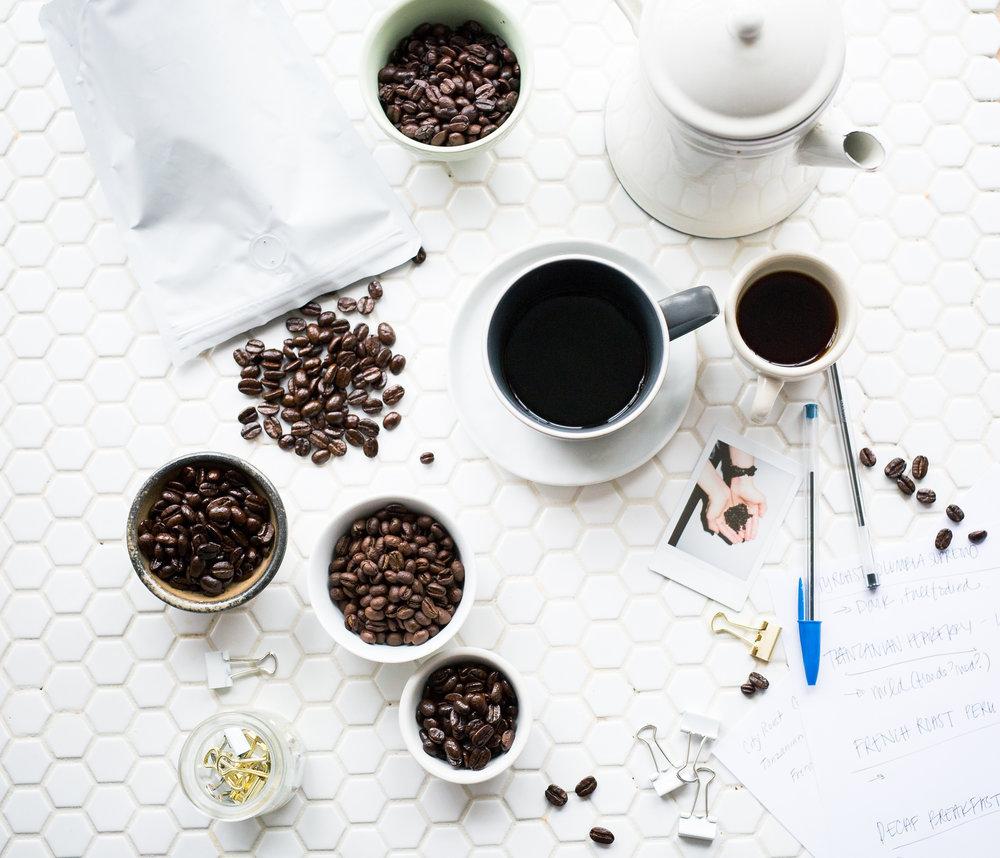 Sampling decaf beans