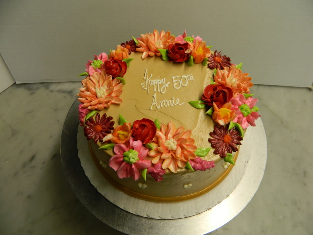 Chocolate Buttercream with Flowers