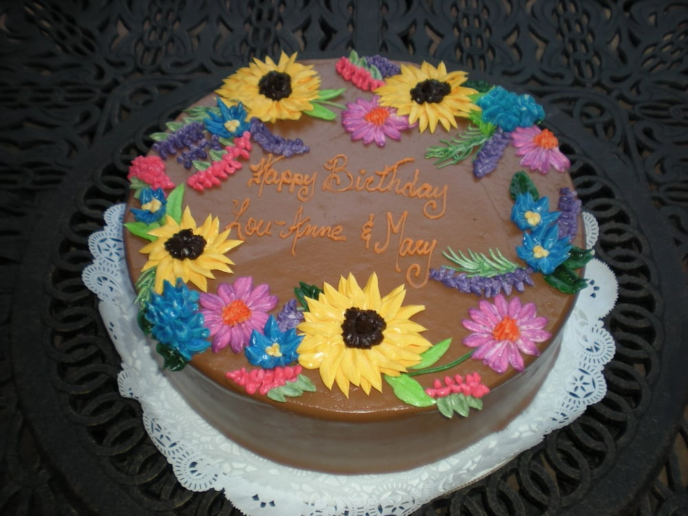 Pic #2 :Chocolate Buttercream with sunflowers