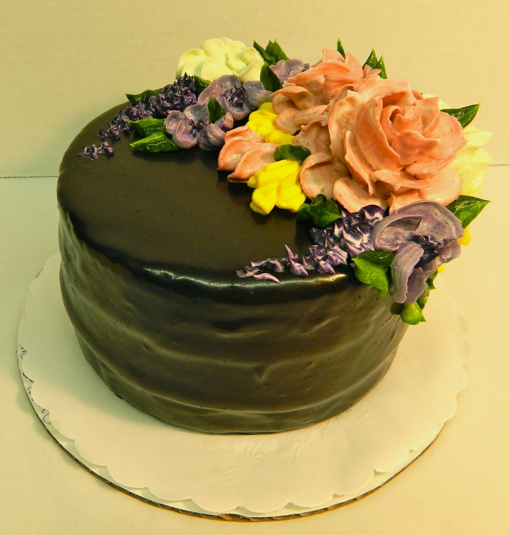 Pic #3: Chocolate Glaze with Flowers