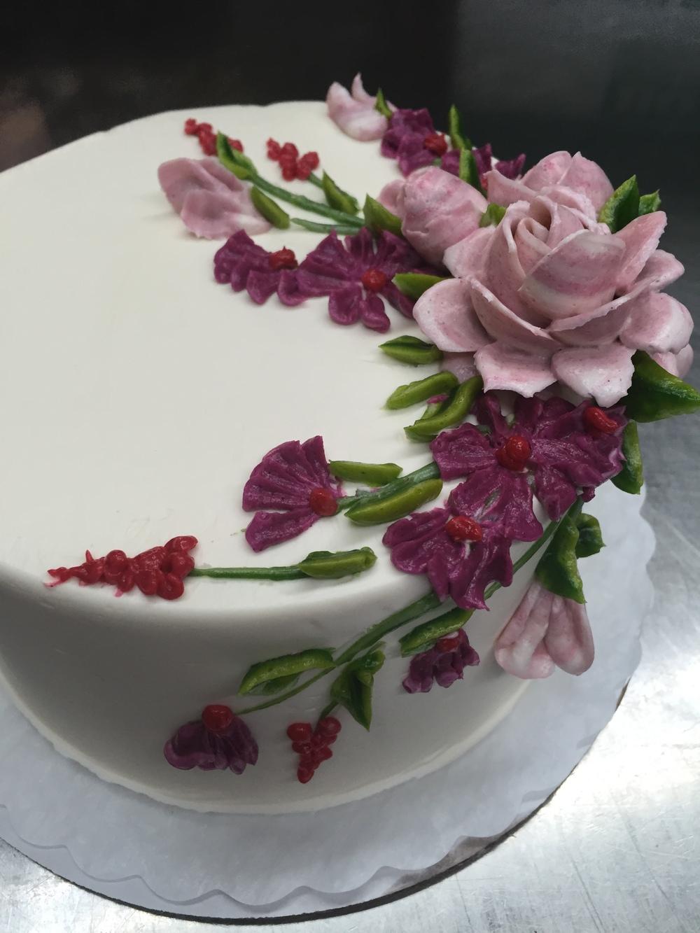 Pic #8: Vanilla buttercream flowers