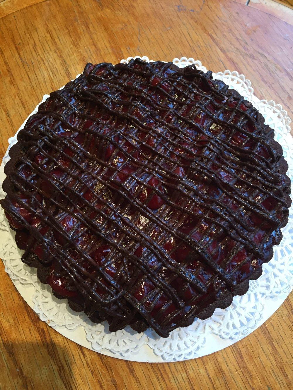 Cherry Jubilee Tart