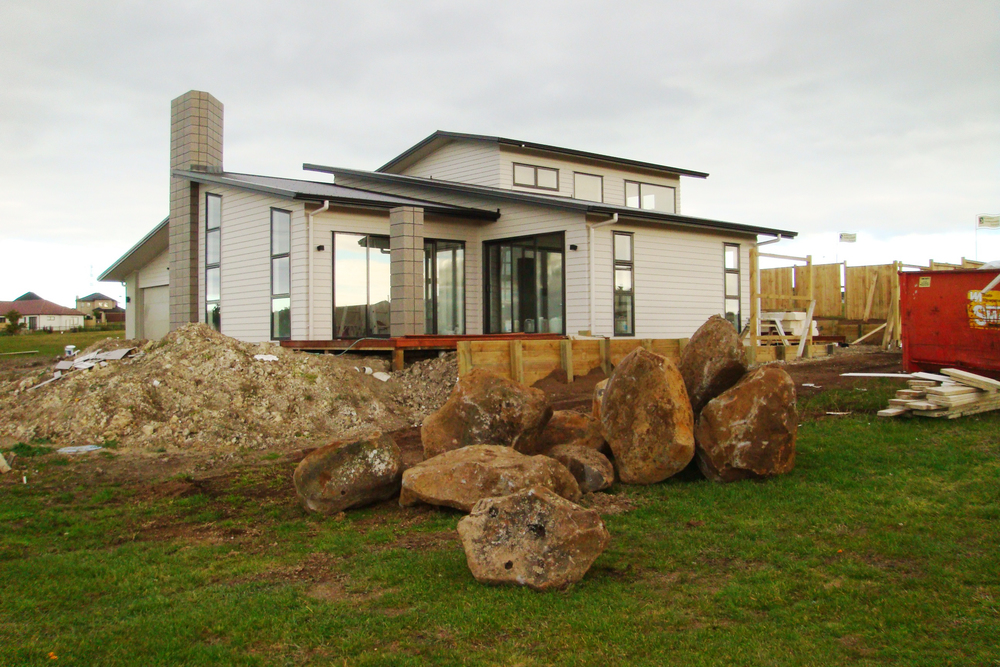 Feature rocks delivered to site