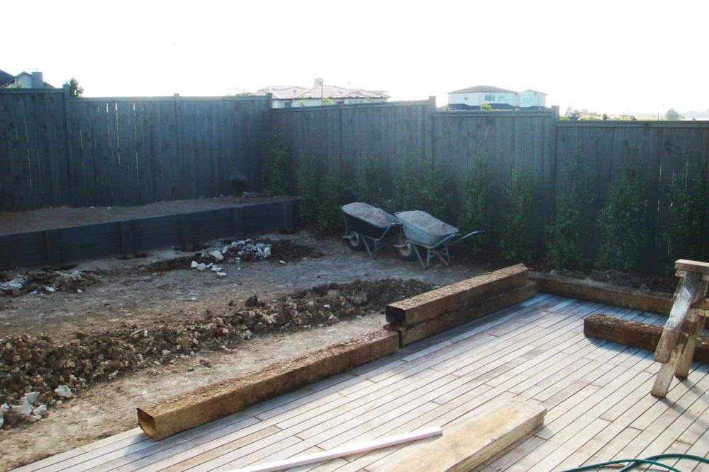 Excavation preparation for sleeper edging