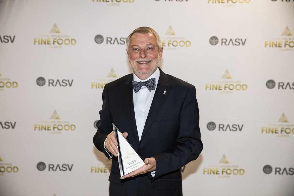Owner Michael Coates accepting an award at the 2015 Melbourne Fine Foods Awards