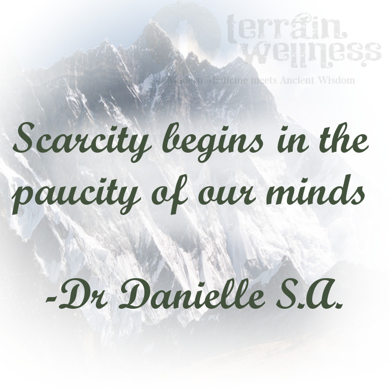 scarcity begins in the paucity of our minds