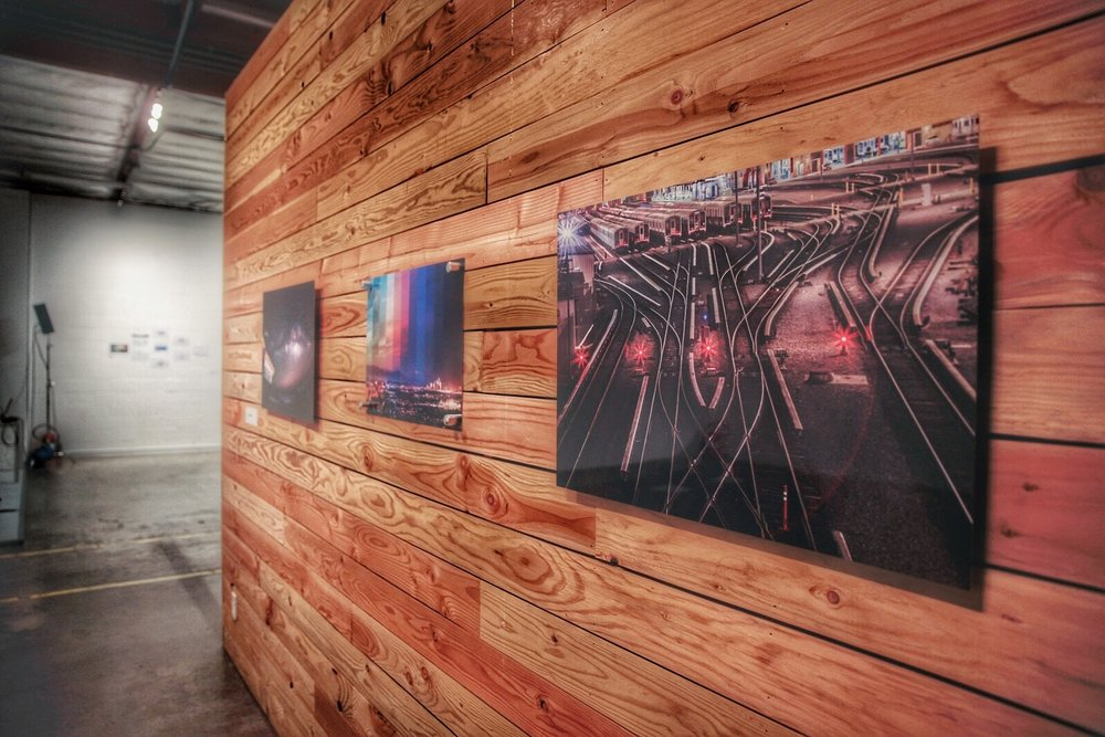 Gallery Aluminum Prints on display in Los Angeles
