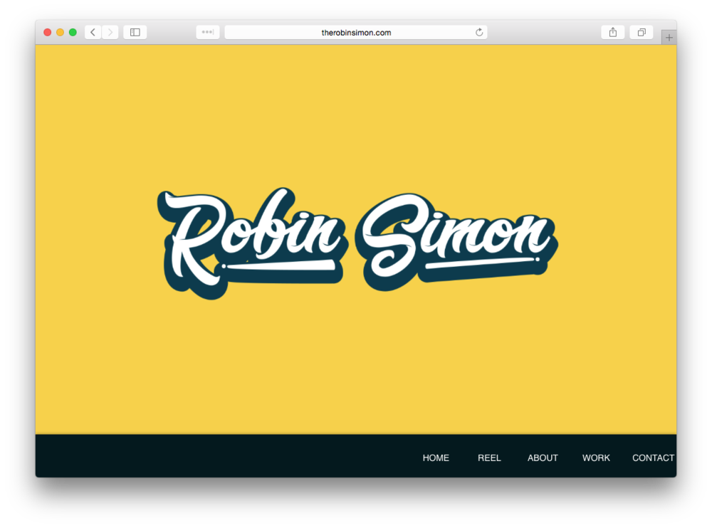 Robin Simon Portfolio Website