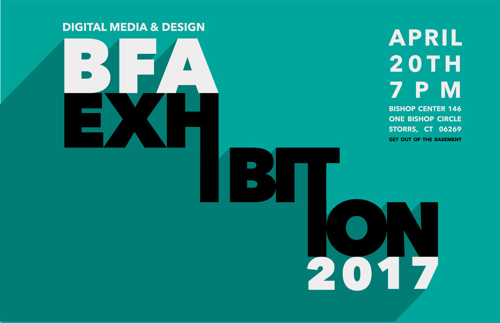 2017 DMD BFA Degree Exhibition Poster