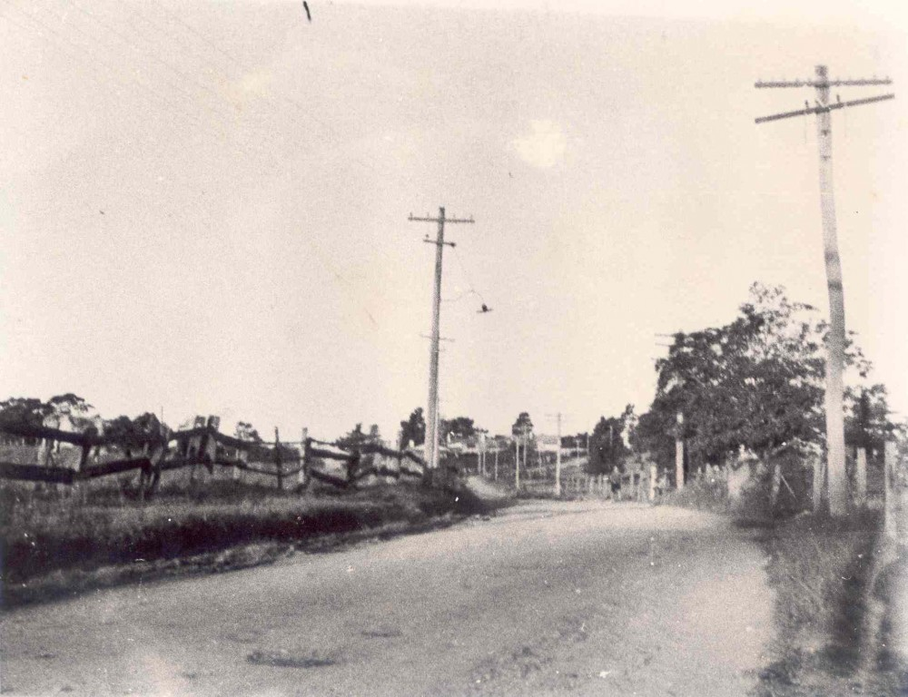 This photograph was taken looking east from near 101 Duffy Avenue, in 1937