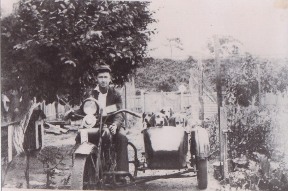 Jack Wood in the back yard of 248 Pennant Hills Rd, Thornleigh. Circa 1930