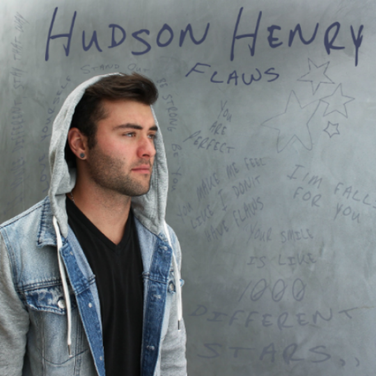 "Designed Album Artwork for Hudson Henry EP ""Flaws"""