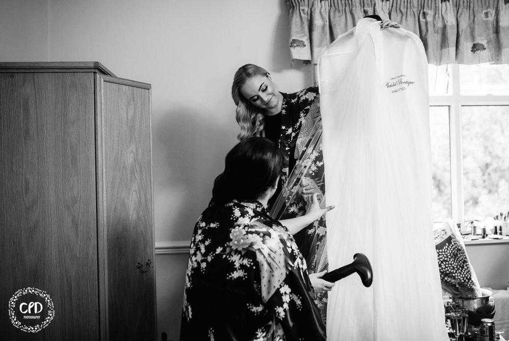Steam that wedding dress