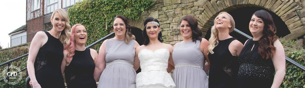Happy bridesmaid having a giggle