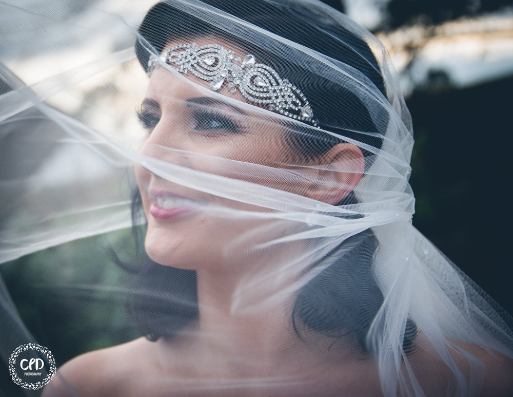 The bride (Carly) and her beautiful veil