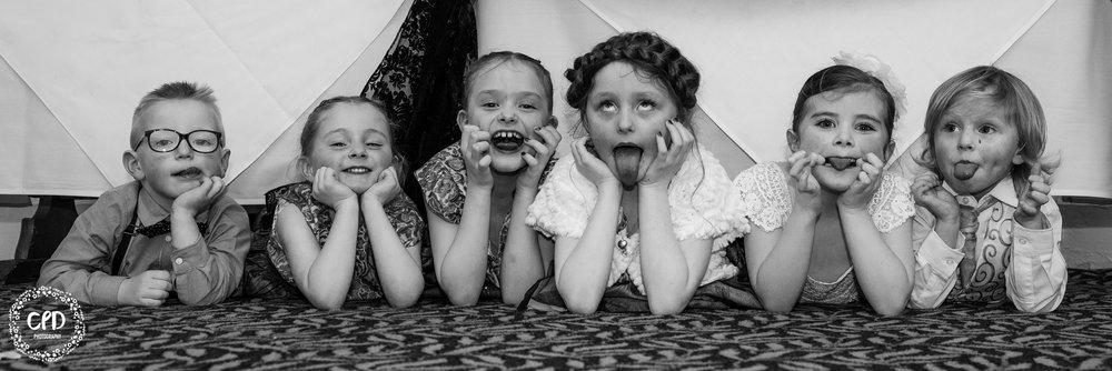 Kids acting goofy