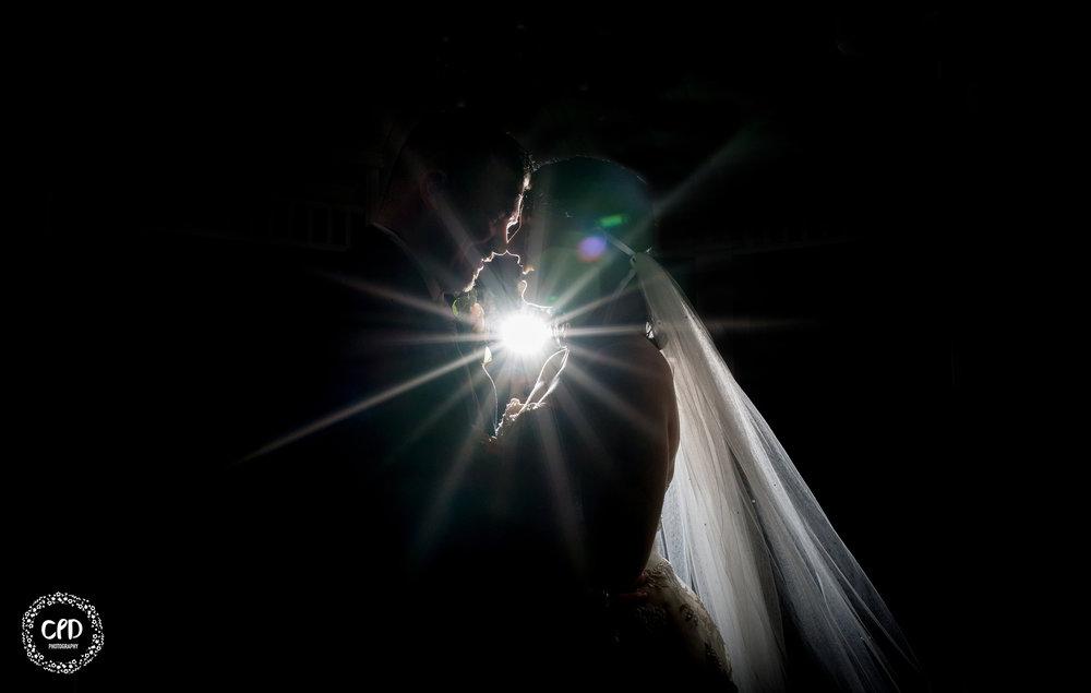 Night time starburst shot