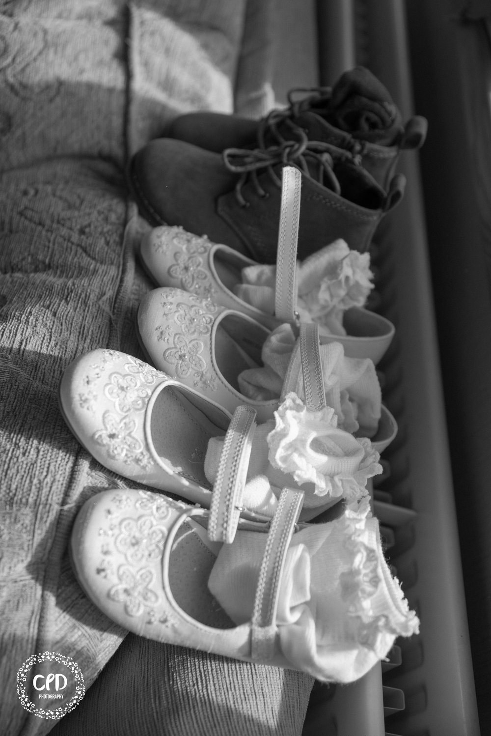 Black and White of Kids shoes